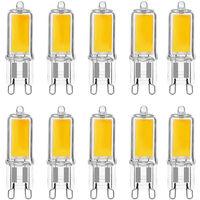 Lot x10 ampoules LED G9 3W Nouvelle version COB Blanc chaud