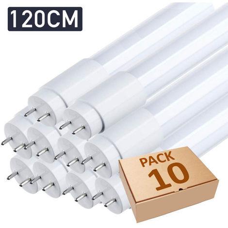 Lot x10 tube néon led T8 120cm blanc froid