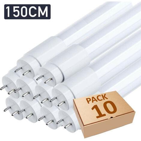 Lot x10 tube néon led T8 150cm blanc froid