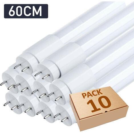 Lot x10 tube néon led T8 60cm blanc froid