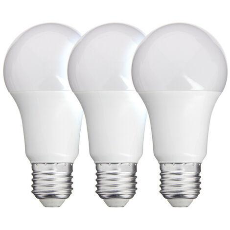 Lot x3 Ampoules LED standard, culot E27, conso 11W, eq. 75W, blanc chaud
