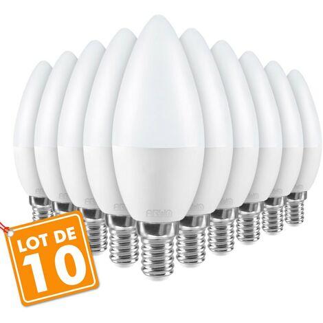 Lote de 10 bombillas LED E14 5.5W eq 40W C37