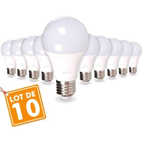 LOTE DE 10 BOMBILLAS LED E27 14W Eq 100W   Blanco cálido 2700K