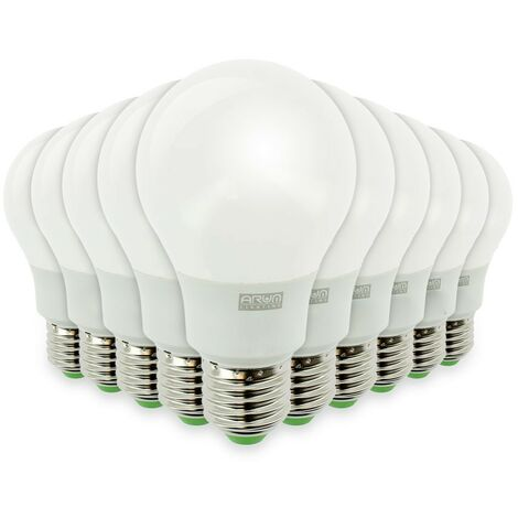 Lote de 10 bombillas LED E27 7W eq 40W 470Lm