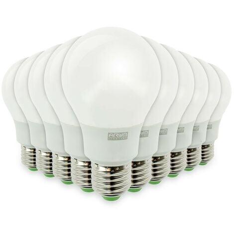 Lote de 10 bombillas LED E27 9W eq 60W 806m Blanco frío