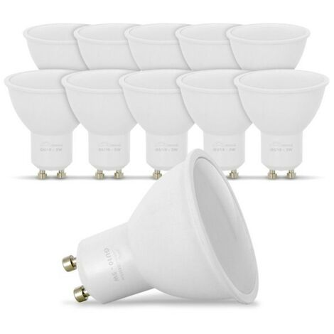 Lote de 10 bombillas LED GU10 5W eq. 40W 4000K blanco natural