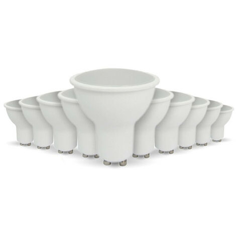 Lote de 10 bombillas LED GU10 5W eq 40W
