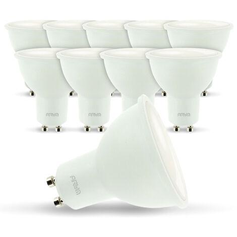 Lote de 10 bombillas LED GU10 7W eq 60W