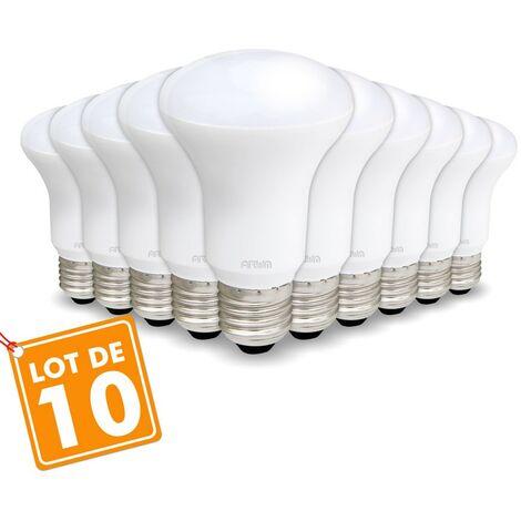 Lote de 10 bombillas LED Spot R63 E27 9W Eq 60W