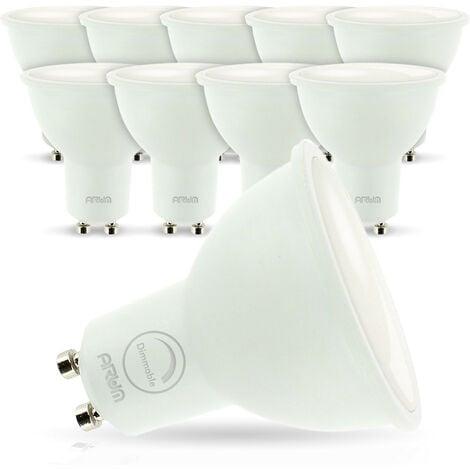 "main image of ""lote de 10 Led Bulbs GU10 7W eq. 60W regulable"""