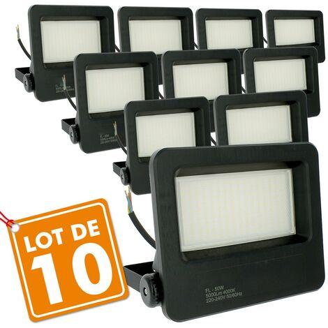 "main image of ""Lote de 10 reflectores LED para exteriores 50W Brillo fuerte STRONG P65"""