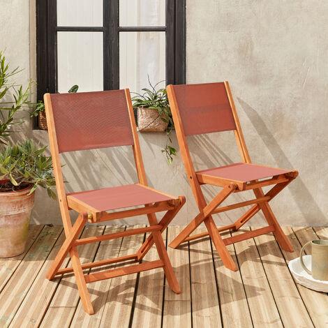 Lote de 2 sillas de jardín de madera - Almería