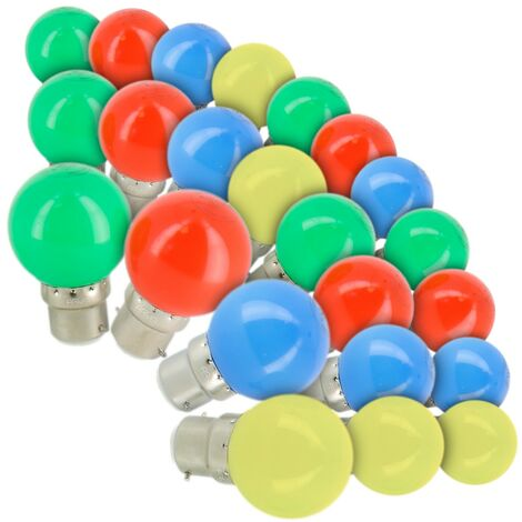Lote de 24 Bulbos B22 Guirnalda Garland al aire libre