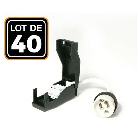Lote de 40 portalámparas GU10 automáticos de cerámica 230 V clase 2