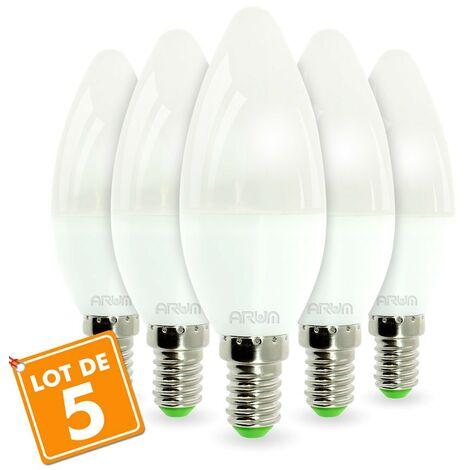 Lote de 5 bombillas LED E14 6W Rendering 40W 420LM