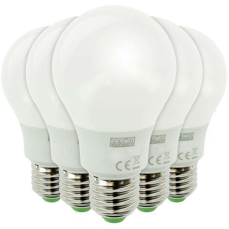 Lote de 5 bombillas LED E27 11W Eq 75W 1055 lúmenes