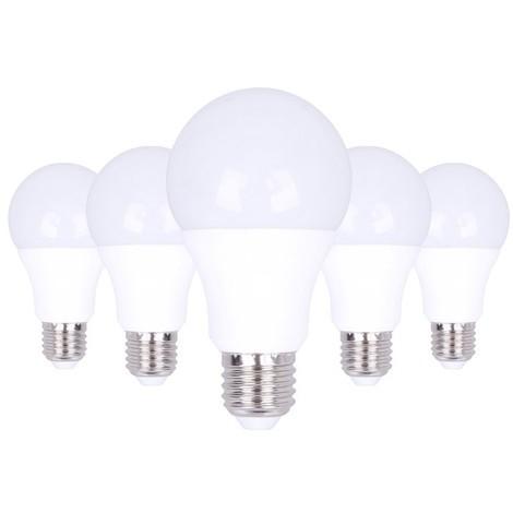 Lote de 5 LED E27, A60 15 W 220V blanco frio 6000k