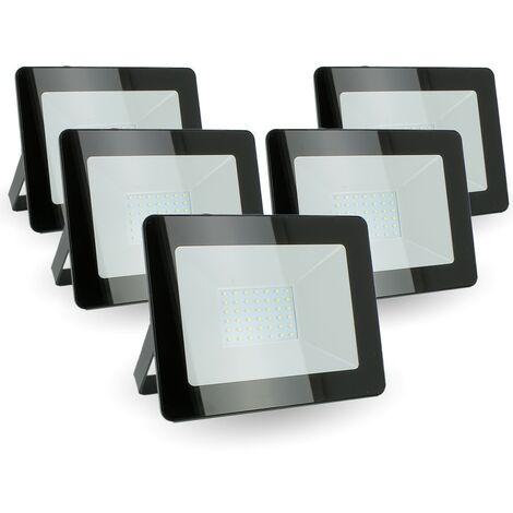 Lote de 5 reflectores LED 30W IP65 al aire libre