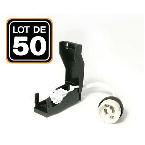 Lote de 50 portalámparas GU10 automáticos de cerámica 230 V clase 2