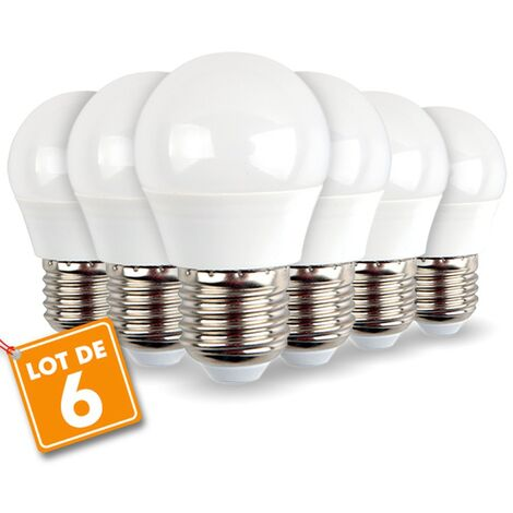Lote de 6 bombillas LED E27 Mini Globe 5.5W 470 lúmenes