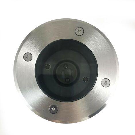 Lote de 6 focos empotrables de suelo redondos acero inoxidable 304 Exterior IP65 GU10