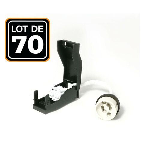 Lote de 70 portalámparas GU10 automáticos de cerámica 230 V clase 2