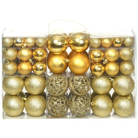 c9f50ad6e72d4 Lote de bolas de Navidad 100 unidades doradas 6 cm