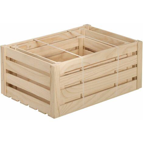 Lote de cajas de lamas de madera maciza de pino 17x36x25, 16x30x22 y 12x25x19