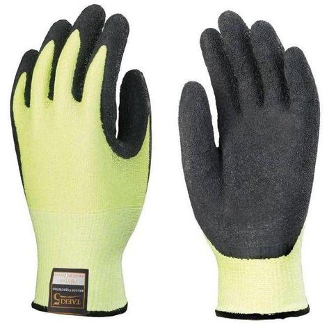 Lots de 10 paires de gants TAEKEI 5 latex noir, anti vibration, hi-viz Coverguard