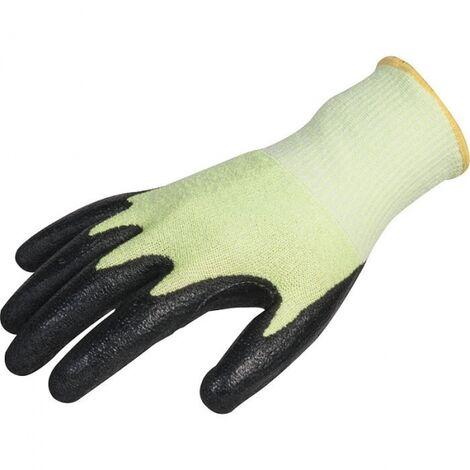 Lots de 10 paires de gants TAEKEI 5 latex noir, anti vibration, hi-viz Coverguard