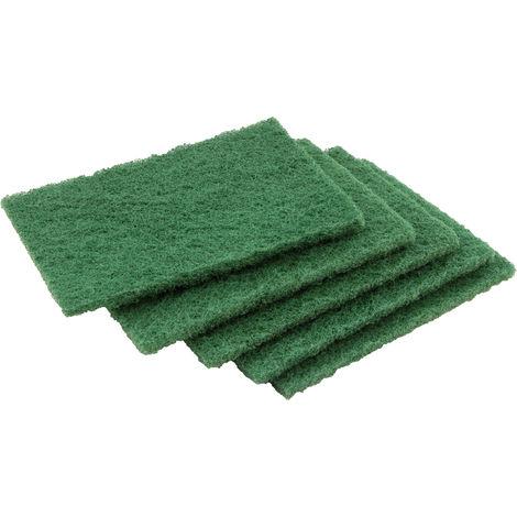 Lots de 5 tampons vert récurant - l'outil parfait