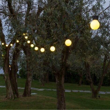 LOTTI Guirlande guinguette - Ampoules G50 LED - Blanc chaud