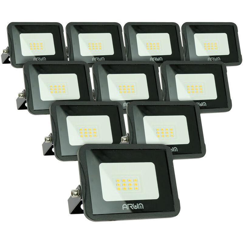 Lotto di 10 faretti LED da esterno 10W IP65 | Température de Couleur: Bianco neutro 4000K