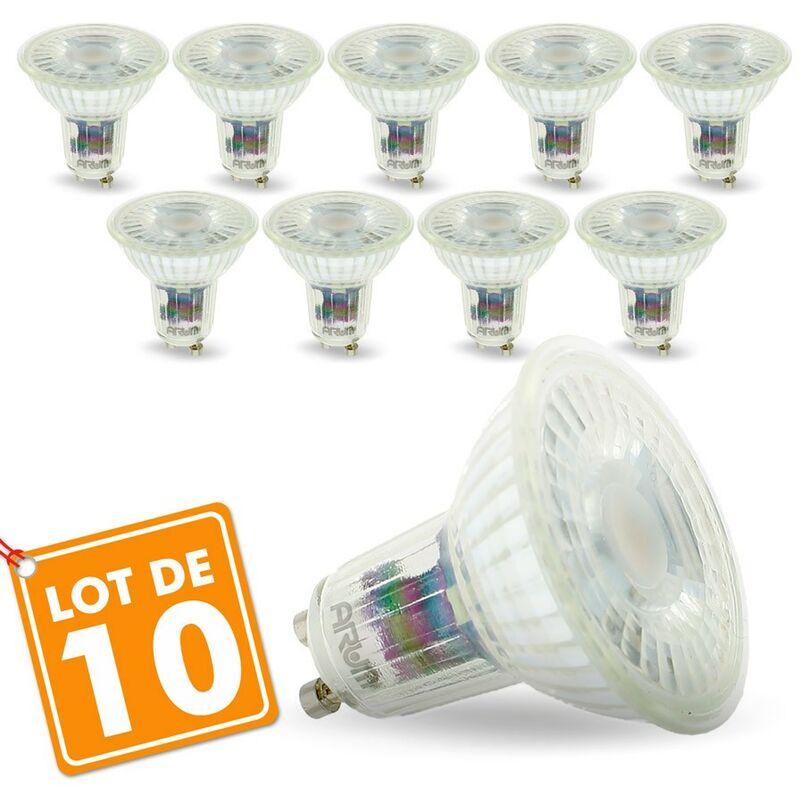 Arum Lighting - Lotto di 10 lampadine GU10 5W 420 Lm Equi. 50W | Température de Couleur: Bianco neutro 4000K