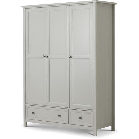 Louella New England 3 Door 2 Drawer Combination Wardrobe Dove Grey