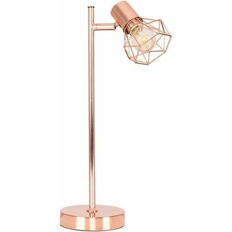 Lounge Bedroom Desk Table Lamp Vintage - Add LED Bulb - Copper