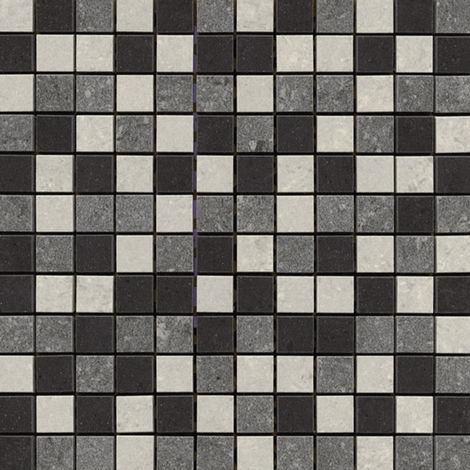 Lounge Mixed (Black, Light/Dark Grey) Porcelain Mosaic Sheet 300mm x 300mm