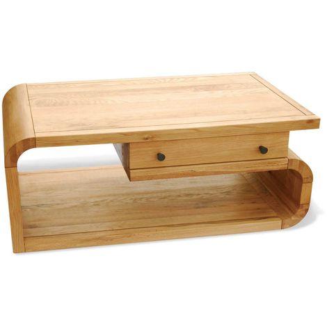 Lounge Oak Living Medium Coffee Table - Stylish Living Room Decor