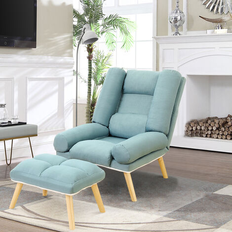 Lounge Recliner Chair And Footstool