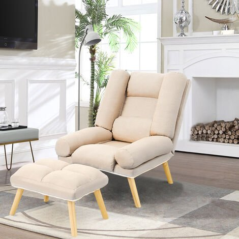 """main image of """"Lounge Recliner Chair And Footstool"""""""