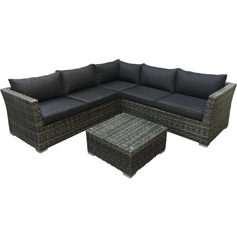 Gut bekannt Lounge - Set ALMERIA, Aluminium + Polyrattan grau-bicolor, Polster XL14