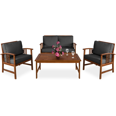 Lounge Set Atlas with Cushions FSC® Certified Acacia Wood ...