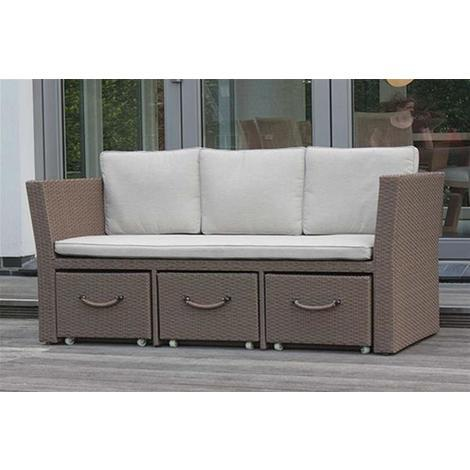 Lounge Sofa 3 Sitzer Consul Garden Sydney Polyrattan