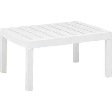 Lounge Table White 78x55x38 cm Plastic