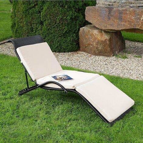 Sonnenliege Gartenliege Relaxliege Klappbett Wetterfest Liegestuhl Gartenmöbel