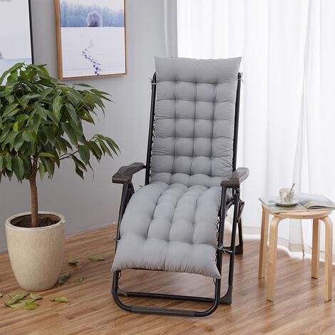 Lounger Cushion Pad Lounge Recliner Rocking Sofa Mat (Silver Gray)