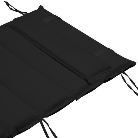 """main image of """"Detex Sun Lounger Cushion Seat Pad Lounger Recliner Pads with Adjustable Pillow 70x23"""" Water Repellent Covers Anthracite"""""""