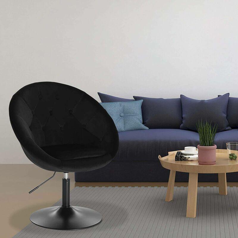 Mercatoxl - Loungesessel mit Armlehne aus Samt - Modell schwarz