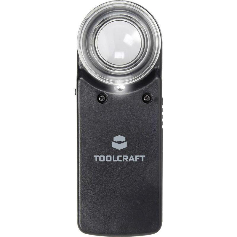 TOOLCRAFT 1303080 Loupe à main avec éclairage LED Grossissement: 15 x Lentille: (Ø) 20 mm