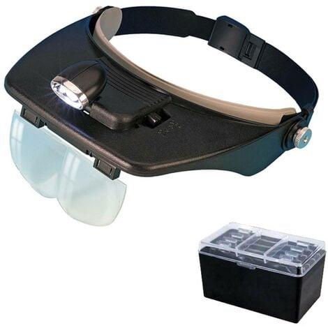 Loupe casque à LED